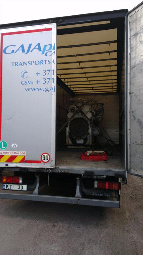 Двигатель в тентованном кузове